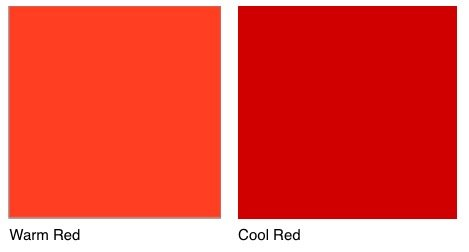 Cool Red Vs Warm Red Paint