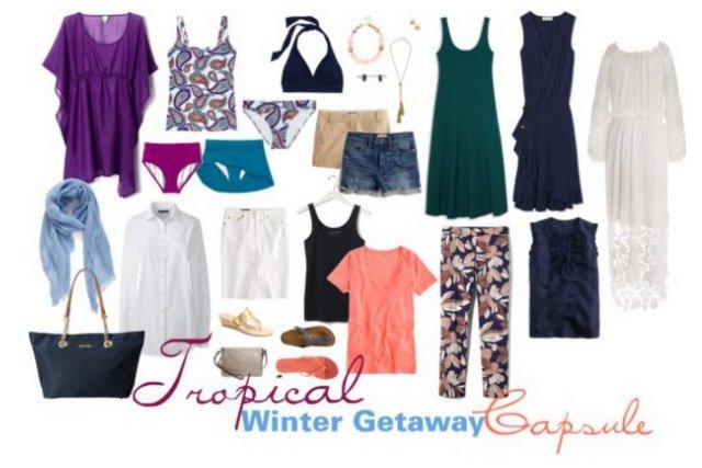 winter getaway wardrobe capsule