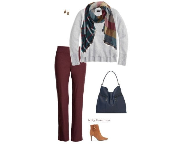 Five Ways To Wear Burgundy Pants Bridgette Raes Style Expert